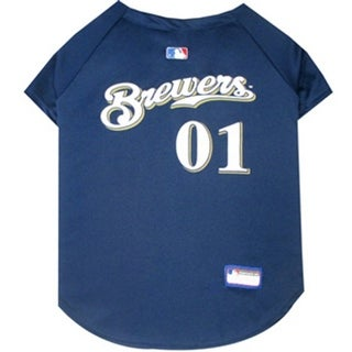 Milwaukee Brewers Dog Jersey - Small