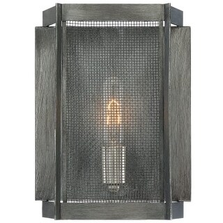 """Designers Fountain 89301 Baxter Single Light 12"""" Tall Wall Sconces with Black Mesh Shade https://ak1.ostkcdn.com/images/products/is/images/direct/7ab475f9e6e3bf4f805369e9a9cb2284e732bdca/Designers-Fountain-89301-Baxter-Single-Light-12%22-Tall-Wall-Sconces-with-Black-Mesh-Shade.jpg?_ostk_perf_=percv&impolicy=medium"""