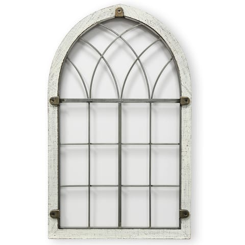 StyleCraft Colonial Window Arch Panel Wall Hanging with Fastner Detail