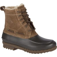 Sperry Top-Sider Men's Decoy Shearling Duck Boot Tan Suede