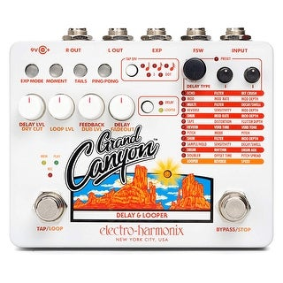 Electro Harmonix Grand Canyon Multifunction Delay & Looper Pedal w/ Power Supply