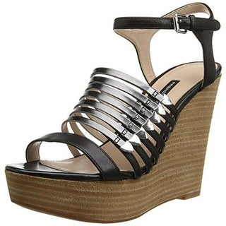 French Connection Womens Demi Wedge Sandals Leather Metallic - 41 medium (b,m)