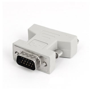 DVI-I Female to VGA 15Pin Male Video Adapter Converter White