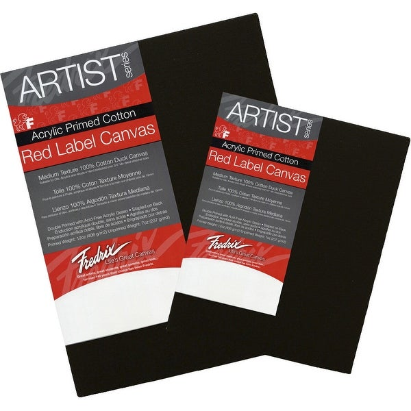shop fredrix red label canvas 12 x 16 in black free shipping on