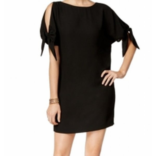 7c07ba1d7948a Shop Vince Camuto NEW Black Women's Size 4 Cold Shoulder Shift Dress - Free  Shipping On Orders Over $45 - Overstock - 18850366