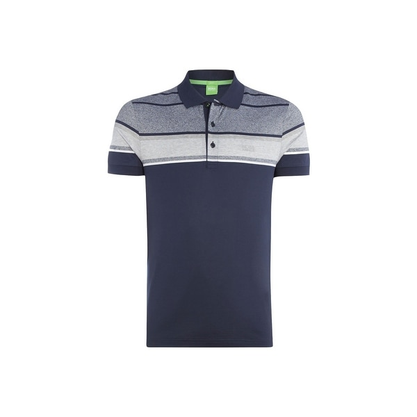 fc27f071d Shop Hugo Boss Green Men's Slim Fit Paule 5 Polo Shirt Navy - Free Shipping  Today - Overstock - 13393194