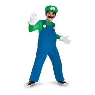 Boys Mario Bros Luigi Deluxe Halloween Costume