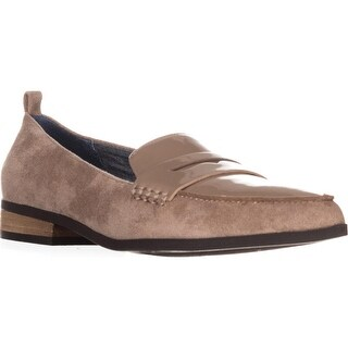 Dr. Scholls Eclipse Flat Penny Loafers, Putty Suede