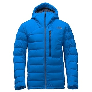 The North Face Corefire Mens Hooded Down Puffer Jacket Bomber Blue Large L