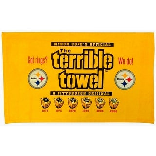 Pittsburgh Steelers Terrible Towel Got Rings? 6x Super Bowl Champions