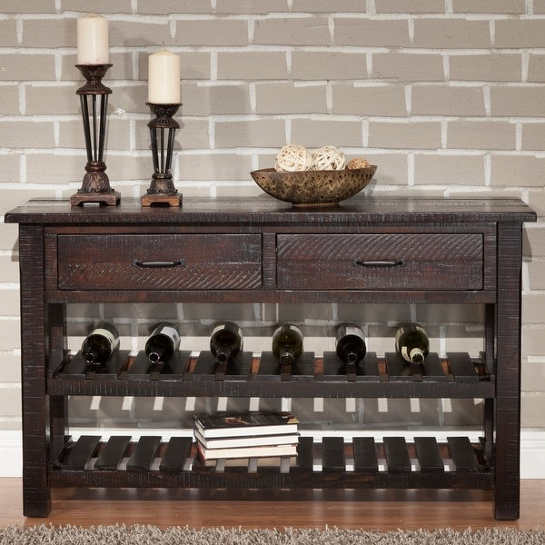 Martin Svensson Home Barn Door Collection Solid Wood Console Sofa Table. Opens flyout.