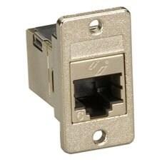 Black Box Network Services - Cat6 Rj-45 Panel-Mount Couplers, Shielde