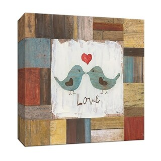 "PTM Images 9-147418  PTM Canvas Collection 12"" x 12"" - ""Love Birds"" Giclee Birds Art Print on Canvas"