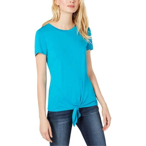 I-N-C Womens Tie-Front Basic T-Shirt