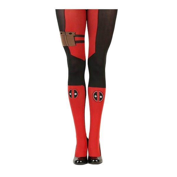 Marvel Deadpool Women's Sheer Costume Tights - Red