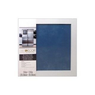 "Darice Dry Erase Board 14x14"" Wht/Blue Jean"