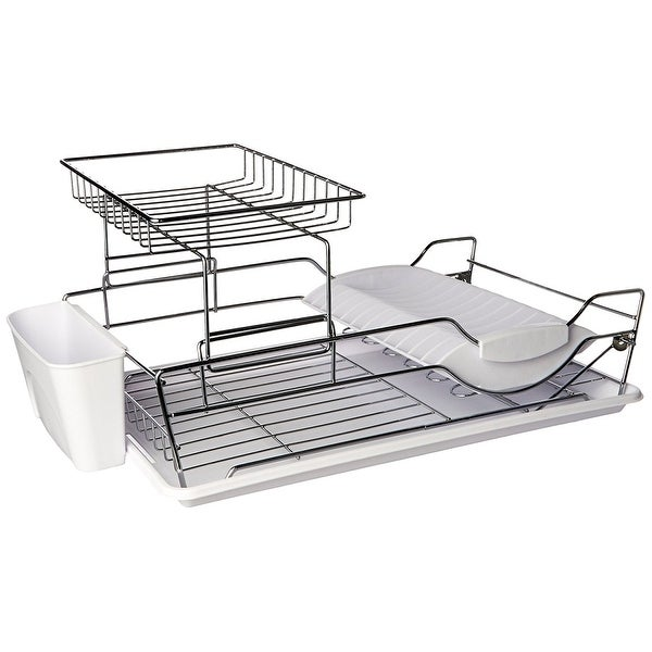 Home Basics 2 Tier Dish Rack Delectable Home Basics DD60 60 Tier Dish Drainer White Free Shipping On