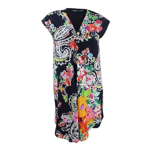 Lauren Ralph Lauren Women's Floral-Print Dress (10, Black Multi) - Black Multi - 10