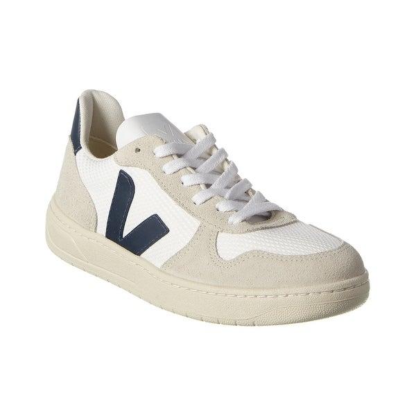 Veja V-10 Suede-Trim Sneaker