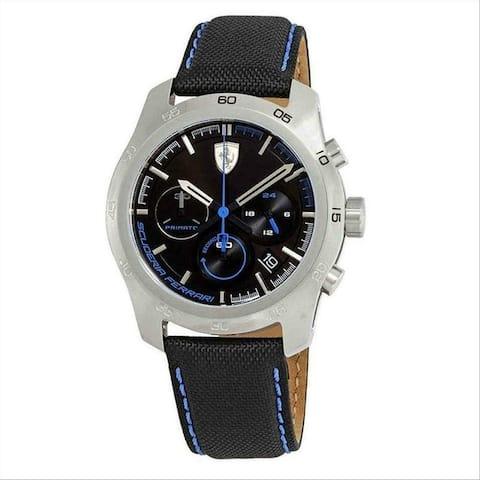 Ferrari Men's 830445 'Primato' Chronograph Black Nylon Watch