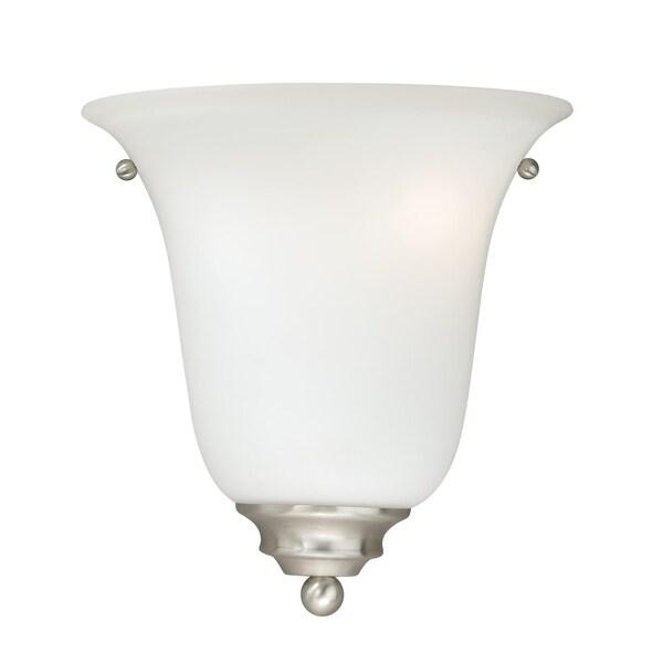 Vaxcel Lighting W0164 Hartford 1-Light Bathroom Sconce - satin nickel