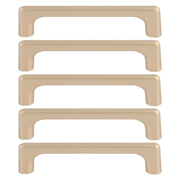 """Cabinet Handles Pull Zinc Alloy 5"""" Hole Center for Furniture Door Cabinet Cupboards Wardrobe 5pcs Gold Tone"""