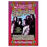 ''Savoy Brown, 1969: Whisky-A-Go-Go, Los Angeles'' by Dennis Loren Vintage Advertising Art Print (19.5 x 13.25 in.)