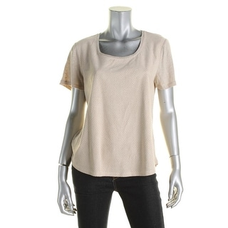 Calvin Klein Womens Pullover Top Faux Suede - m