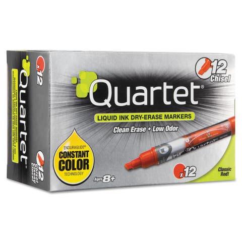 EnduraGlide Dry Erase Marker, Broad Chisel Tip, Red, Dozen - Red