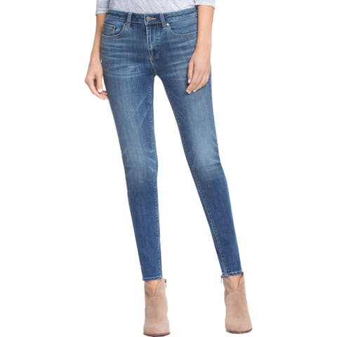 Vince Camuto Womens Skinny Jeans Faded Dark Wash