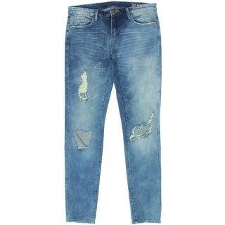 Blank NYC Womens Destoryed Low Rise Skinny Jeans - 26