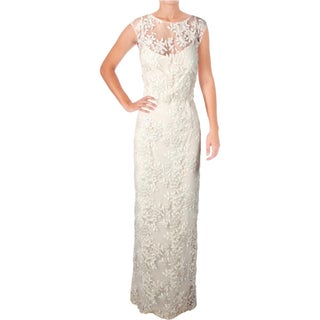 Lauren Ralph Lauren Womens Petites Kirette Evening Dress Mesh Floral
