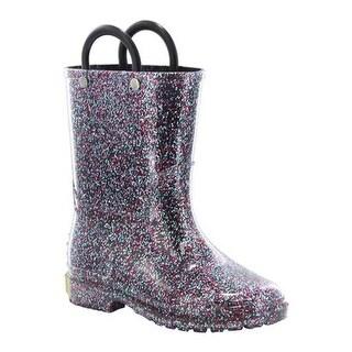 Western Chief Girls' Glitter Rain Boot Multi