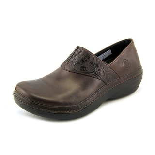 Timberland Pro Renova Professional Slip-On Women Round Toe Leather Brown Clogs