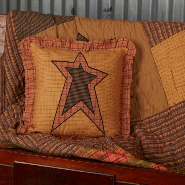 Stratton Applique Star Pillow 12x12. Opens flyout.