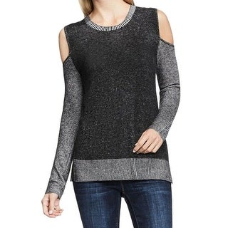 Two By Vince Camuto NEW Gray Cold-Shoulder Women's XL Crewneck Dress