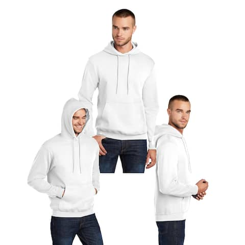 One Country United Men's White MEDIUM Soft & Cozy Hooded Sweatshirt