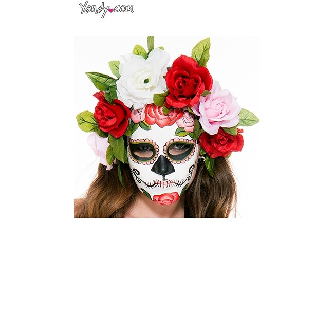 Music legs womens day of the dead masked costume