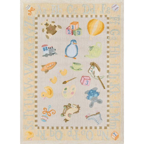 Momeni Lil Mo Classic Classic Toys Hand Hooked Cotton Contemporary Area Rug