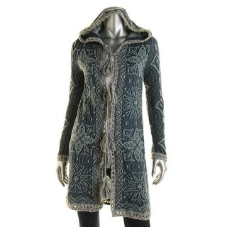 Free People Womens Wool Hooded Cardigan Sweater - XS