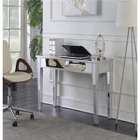 Convenience Concepts 413372 Gold Coast Mirrored Desk Vanity