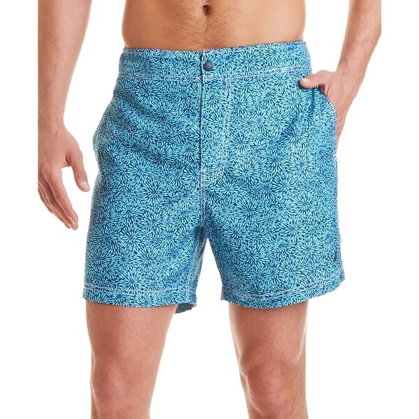 Nautica Mens Floral Print Quick Dry Swim Trunks
