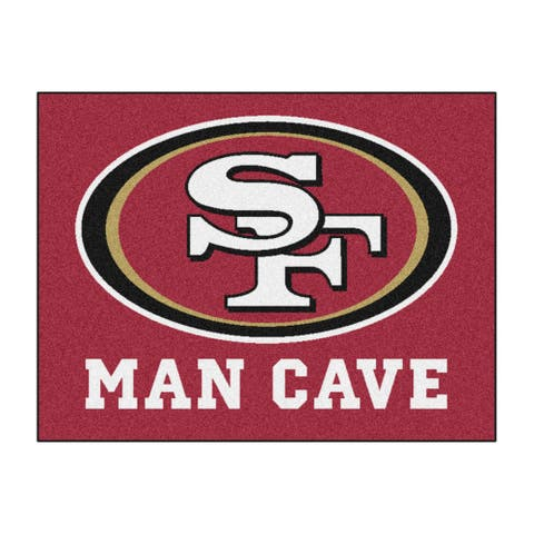 NFL San Francisco 49ers Man Cave All-Star Rectangular Mat Area Rug