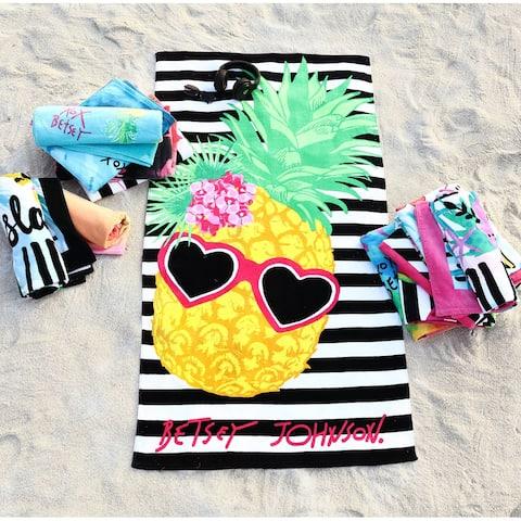 Betsey Johnson 2 Piece Printed Cotton Beach Towel Set - 2 Piece Set
