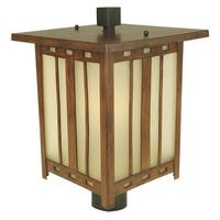 Craftmade Z3925 Asian / Oriental Single Light Up Lighting Large Outdoor Post Light from the Stinson Collection
