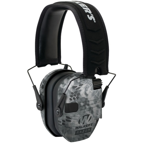 Walkers Game Ear Gwp-Rsem-Kpt Razor Series(Tm) Slim Shooter Electronic Folding Muff (Kryptek Camo)
