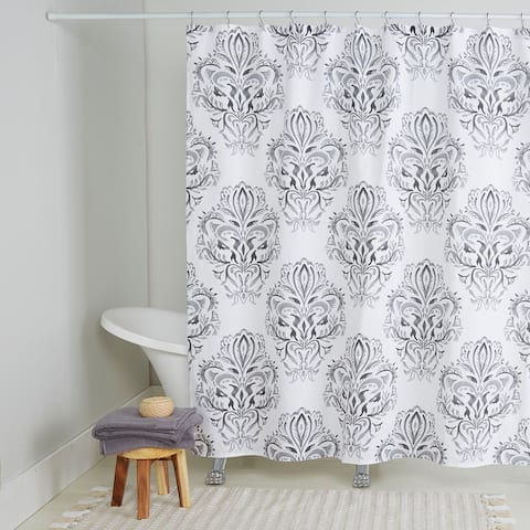 "Nicole Miller Cotton Shower Curtain, Addie, 72""x72"""
