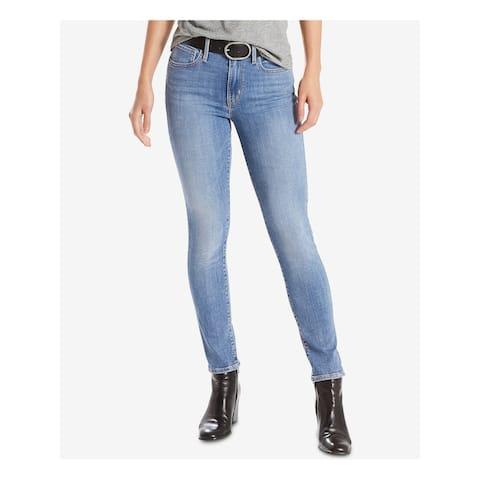 LEVI'S Womens Blue Skinny Jeans Size 31 Waist