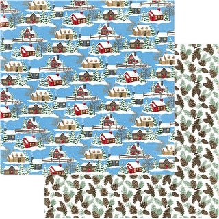 """O Canada Christmas Double-Sided Cardstock 12""""X12""""-Through The Woods"""