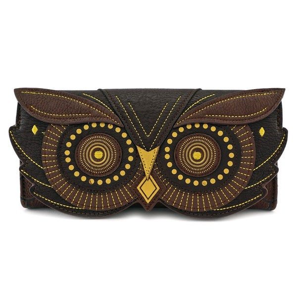 Loungefly Brown Owl Flap Wallet with Gold Applique And Embroidery - One Size Fits most